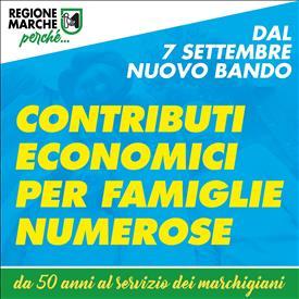 Contributi per famiglie numerose